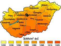 Magyarországi napsütési adatok
